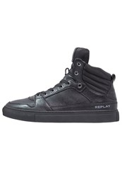 Replay Dothan Hightop Trainers Black