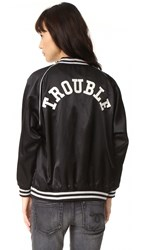 R 13 Double Trouble Roadie Jacket Black With Silver