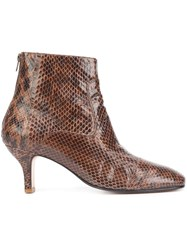 Rachel Comey Snakeskin Effect Ankle Boots Brown