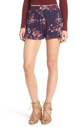 Women's Bp. Print Swing Shorts Navy Dusk Romantic Floral