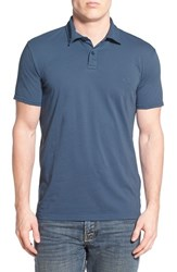 Men's Quiksilver 'Sun Cruise' Jersey Polo Dark Denim