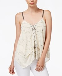 Rachel Rachel Roy Handkerchief Hem Sleeveless Top Ivory