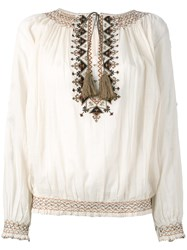 Talitha Tribal Blouse Nude Neutrals