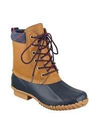 Tommy Hilfiger Online Exclusive Russel Duck Boots Black Tan