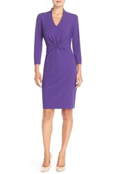 Women's Nydj 'Christa' Knot Crepe Sheath Dress