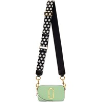 Marc Jacobs Green And Beige Small Snapshot Camera Bag