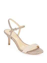 Vince Camuto Alcine Colorblock Reptile Embossed Leather Sandals Light Pink