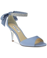 Nina Vinnie Two Piece Evening Sandals Women's Shoes New Dusty Blue