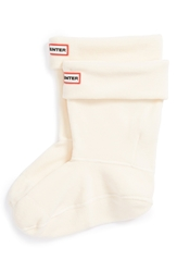 Hunter Short Fleece Welly Socks Cream Fleece