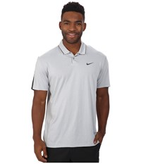 Nike Tiger Woods Kimono Heather Mesh Polo Shirt Wolf Grey Heather Cool Grey Reflective Black Men's Short Sleeve Pullover White