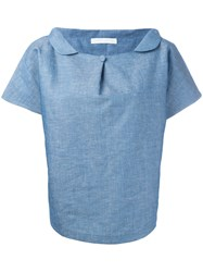 Societe Anonyme Buttoned Wide Collar Shirt Blue