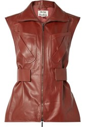 Acne Studios Lorique Leather Vest Brown