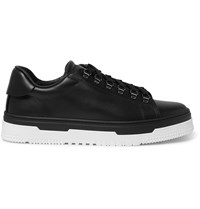 Valentino Mountain Leather Sneakers Black