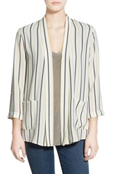 Women's Elodie Stripe Three Quarter Sleeve Blazer