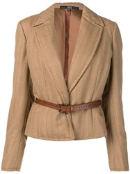 Gianfranco Ferre Vintage 1990 Striped Jacket Neutrals