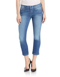 Guess Mid Rise Cropped Jeans Turquoise