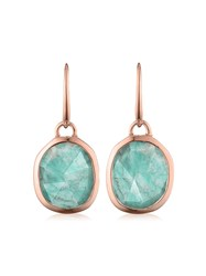 Monica Vinader Rp Siren Wire Amazonite Earrings Gold