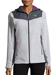 New Balance Long Sleeve Hooded Jacket Light Grey
