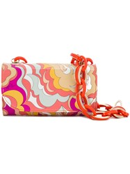 Emilio Pucci Abstract Print Shoulder Bag Yellow And Orange