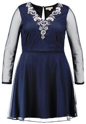 Frock And Frill Curve Cocktail Dress Party Dress Dark Navy Dark Blue