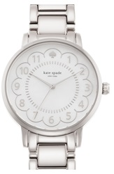 Kate Spade 'Gramercy' Scalloped Dial Bracelet Watch 34Mm Silver