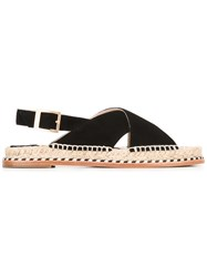 Paloma Barcelo Braided Detail Sandals Black