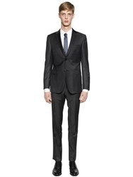 Z Zegna Wool And Mohair Blend Serge Suit