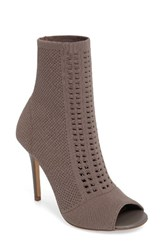Charles By Charles David Women's Rebellious Knit Peep Toe Bootie Taupe Stretch Knit Fabric