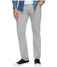 Ag Adriano Goldschmied Graduate Tailored Straight Sueded Stretch Sateen Sulfur Platinum Tin Casual Pants Gray