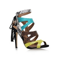 Miss Kg Forest High Heel Multi Strap Sandals Green