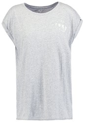 Roxy Take Print Tshirt Heritage Heather Mottled Grey