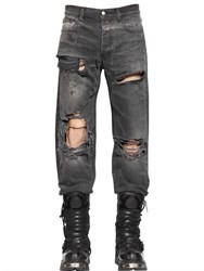 Faith Connexion 19Cm Baggy Fit Destroyed Denim Jeans