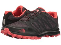 The North Face Litewave Fastpack Phantom Grey Heather Print Cayenne Red Women's Shoes Black