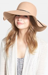 Junior Women's Bp. Rope Trim Floppy Felt Hat Brown Camel