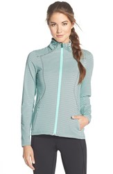 Women's Lole 'Essential 2' Stripe Jacket Clearly Aqua Stripe