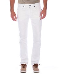 Buffalo David Bitton Six X Slim Straight Colored Jeans White