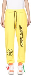 Off White Yellow Lounge Pants