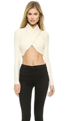 Bec And Bridge Entrained Halter Wrap Top Ivory