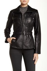 Kenneth Cole Genuine Leather Jacket Black