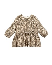 Mayoral Long Sleeve Leopard Print Dress Animal Print