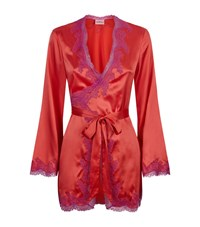 Agent Provocateur Lucie Silk Gown Female Pink