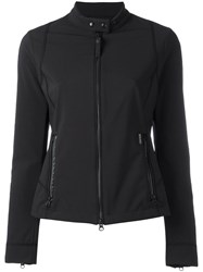 Woolrich Banded Collar Zipped Jacket Black