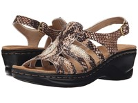 Clarks Lexi Marigold Q Beige Synthetic Snake Women's Sandals Brown