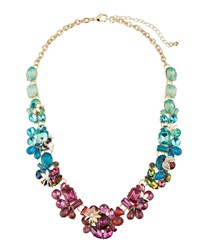 Fragments For Neiman Marcus Multicolor Flower Statement Necklace