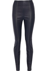 Alexander Wang T By Stretch Leather Leggings Midnight Blue
