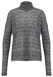 Mbym Lakin Long Sleeved Top Grey Mottled Dark Grey