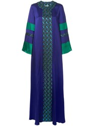 Layeur Printed Long Dress Pink And Purple