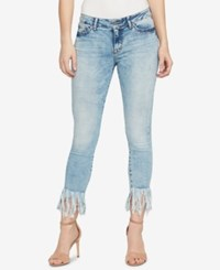 William Rast Contrast Cuff Kick Flare Skinny Jeans Spice Denim