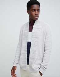New Look Cardigan In Grey Stone