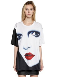 Jeremy Scott Face Printed Cotton Jersey T Shirt